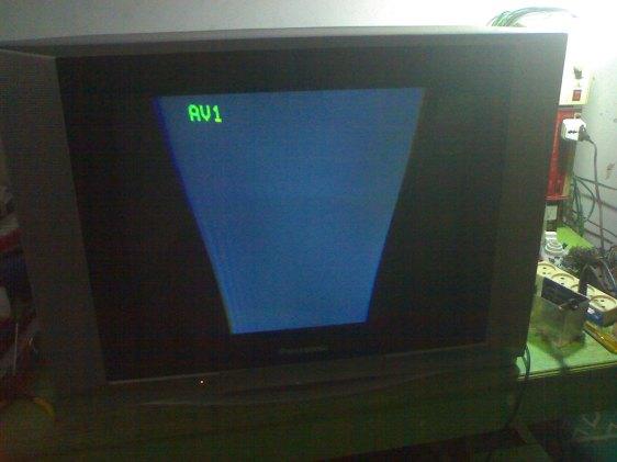 Kerusakan Horisontal TV panasonic putus Yoke Defleksi horisontal yang bawah